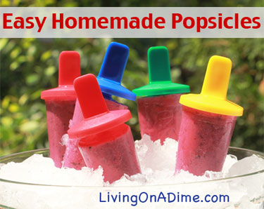 Easy Homemade Popsicles - Ideas and Recipes