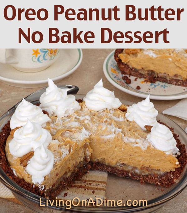 Easy no bake desserts for Dessert recipes using peanut butter