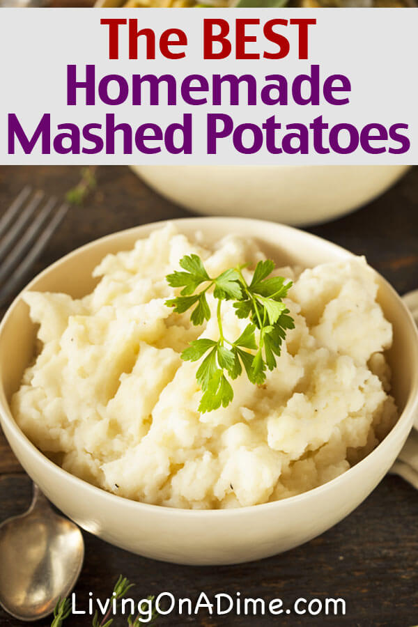 This is the BEST homemade mashed potatoes recipe and it's so easy! There are also a bunch of other traditional Thanksgiving recipes for holiday favorites like sweet potato casserole, homemade stuffing, turkey gravy and homemade pies!
