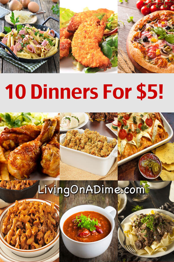 10 dinners for 5 cheap dinner recipes and ideas