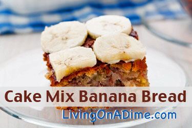 Gluten Free Banana Bread Yellow Cake Mix