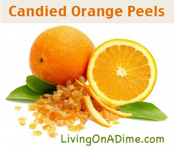 Candied Orange Peels Recipe - Living on a Dime
