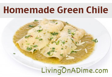 Homemade Green Chile Recipe