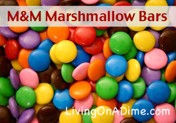 M&M Marshmallow Bars Recipe