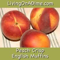 English Muffin Peach Crisp Recipe