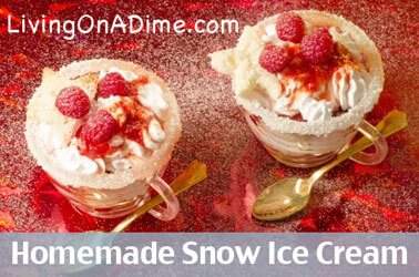 Homemade Snow Ice Cream Recipe