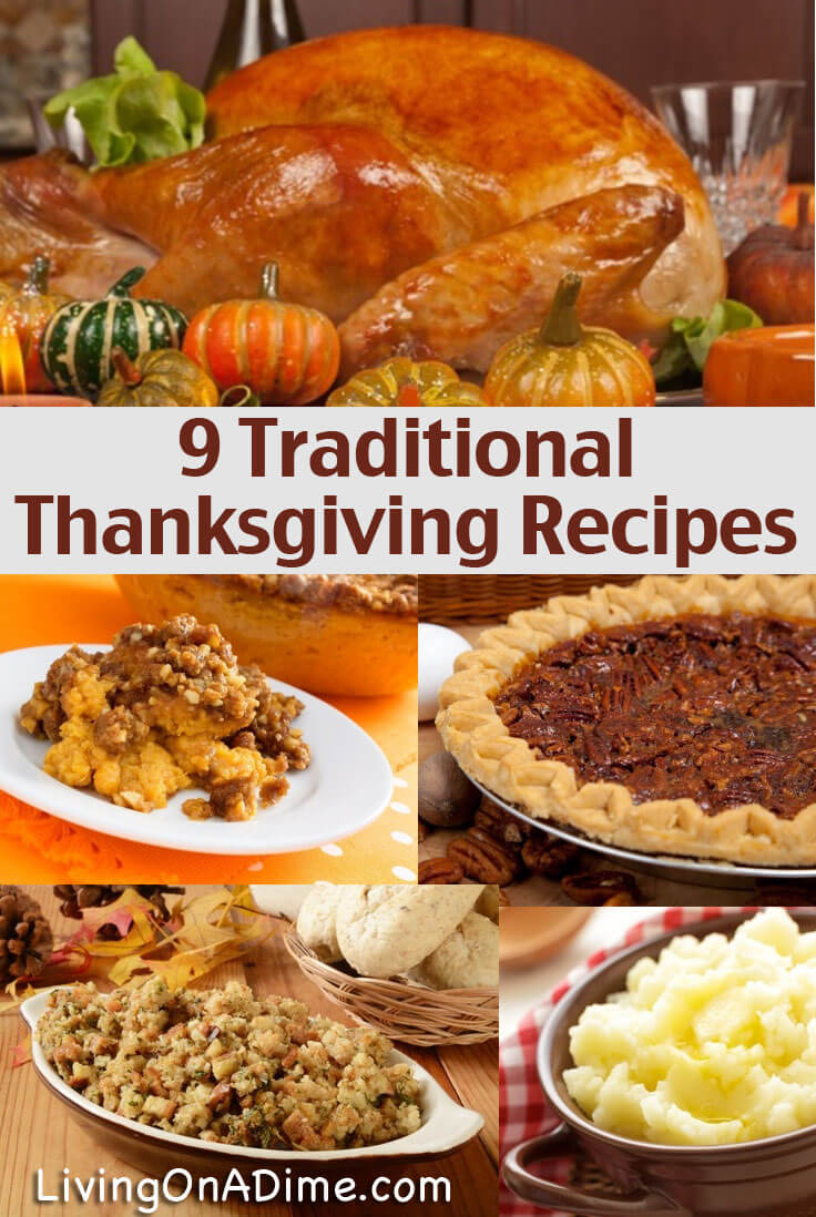 Here are a bunch of traditional Thanksgiving recipes for holiday favorites like sweet potato casserole, homemade stuffing, turkey gravy and homemade pies!